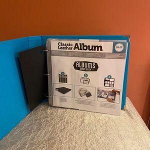 NEW Scrapbook/Memory Leather Album